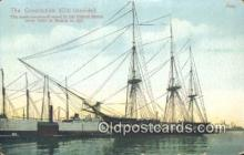 shi100213 - The Constitution Old Ironsides Sail Boat Postcard Post Card