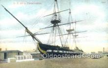 shi100215 - US Ship Constitution, Boston, Massachusetts, MA USA Sail Boat Postcard Post Card