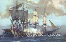 shi100217 - USF Constitution Defeating HMS Guerriere Sail Boat Postcard Post Card