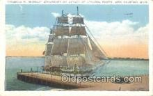 shi100220 - Charles W Morgan, New Bedford, Massachusetts, MA USA Sail Boat Postcard Post Card