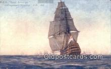 shi100224 - HMS Royal Soverign, Collingwoods Flagship Sail Boat Postcard Post Card