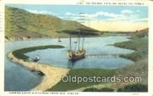 shi100229 - The Isthmus, Catalina, California, CA USA Sail Boat Postcard Post Card