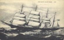 shi100234 - Four Masted Square Rigger Sail Boat Postcard Post Card