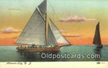 shi100236 - Atlantic City, New Jersey, NJ USA Sail Boat Postcard Post Card