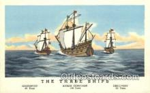 shi100237 - Goodspeed, Sarah Constant, and Discovery, Jamestown, Viriginia, VA USA Sail Boat Postcard Post Card