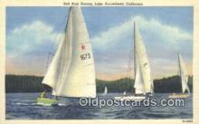 shi100238 - Sail Boat Racing, Lake Arrowhead, California, CA USA Sail Boat Postcard Post Card