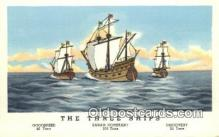 shi100242 - Goodspeed, Sarah Constant, and Discovery, Jamestown, Viriginia, VA USA Sail Boat Postcard Post Card