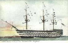 shi100248 - HMS Trafalgar Day Sail Boat Postcard Post Card