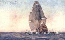 shi100259 - HMS Royal Soverign, Collingwoods Flagship Sail Boat Postcard Post Card