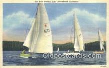 shi100261 - Sail Boat Racing, Lake Arrowhead, California, CA USA Sail Boat Postcard Post Card