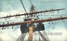 shi100265 - United States Training Ship  Sail Boat Postcard Post Card