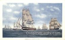 shi100268 - American Navy Ships 1812 Sail Boat Postcard Post Card