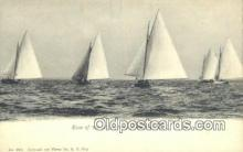 shi100269 - Race Of 30 Ft Sail Boats, Newport, Rhode Island, RI USA Sail Boat Postcard Post Card