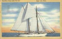 shi100271 - Cape Cod, Massachusetts, MA USA Sail Boat Postcard Post Card