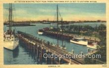 shi100276 - Municipal Yacht Pier, Norfolk, Virginia, VA USA Sail Boat Postcard Post Card