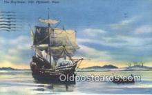 shi100281 - The Mayflower, Plymouth, Massachusetts, MA USA Sail Boat Postcard Post Card