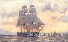 shi100284 - HMS Warrior, First British Armourclad Sail Boat Postcard Post Card