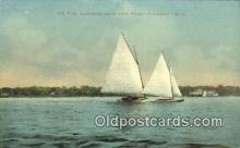 shi100285 - Manasquan River, Point Pleasant, New Jersey, NJ USA Sail Boat Postcard Post Card