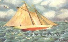 shi100288 - Sail Boat Postcard Post Card