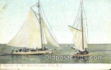 shi100290 - Atlantic City, New Jersey, NJ USA Sail Boat Postcard Post Card