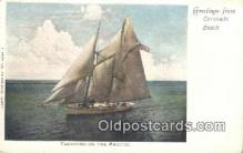 shi100291 - Coronado Beach Sail Boat Postcard Post Card