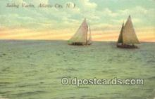 shi100295 - Yachts, Atlantic City, New Jersey, NJ USA Sail Boat Postcard Post Card
