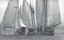 shi100298 - Sail Boat Postcard Post Card
