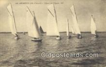 shi100308 - Arcachon Sail Boat Postcard Post Card