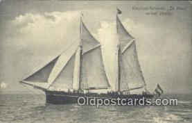 shi100309 - Hospital Kerkschip, De Hoop Urelaat Ymuiden Sail Boat Postcard Post Card