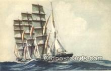 shi100316 - Quartre Mats Barque Sail Boat Postcard Post Card
