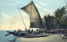 shi100318 - Native Fishing Boat Sail Boat Postcard Post Card