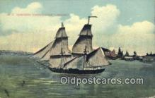 shi100319 - Commondore Perrys Flagship, Lawrenoe Sail Boat Postcard Post Card