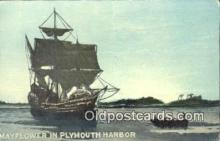 shi100320 - The Mayflower, Plymouth, Massachusetts, MA USA Sail Boat Postcard Post Card