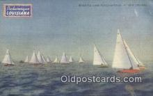 shi100322 - Ponchartrain, New Orleans, Louisiana, LA USA Sail Boat Postcard Post Card