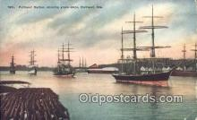 shi100327 - Portland Harbor, Portland, Oregon, OR USA Sail Boat Postcard Post Card