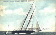 shi100337 - North Beach Sail Boat Postcard Post Card