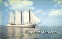 shi100340 - Windjammer Off The Coast Of Maine, ME USA Sail Boat Postcard Post Card