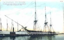 shi100341 - The Constitution, Old Ironsides, Boston, Massachusetts, MA USA Sail Boat Postcard Post Card