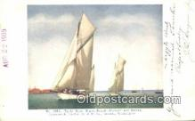 shi100347 - Puget Sound Yacht Race, Seattle, Washington, WA USA Sail Boat Postcard Post Card
