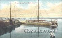 shi100350 - Lake Front, Burlington, Vermont, VT USA Sail Boat Postcard Post Card