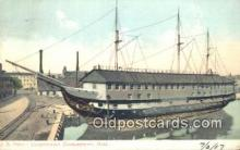 shi100352 - US Frigate Constitution, Charlestown, Massachusetts, MA USA Sail Boat Postcard Post Card