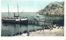 shi100353 - Boat Landing At Avalon, Santa Catalina, California, CA USA Sail Boat Postcard Post Card