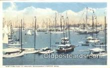 shi100354 - New York Fleet, Marblehead Harbor, Massachusetts, MA USA Sail Boat Postcard Post Card