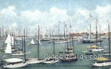 shi100355 - Rock-Mere Hotel, Marblehead, Massechusetts, MA USA Sail Boat Postcard Post Card
