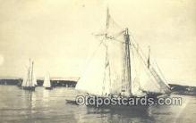 shi100362 - Real Photo - Sail Boat Postcard Post Card