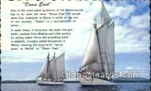 shi100364 - Down East Sail Boat Postcard Post Card
