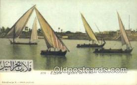 shi100378 - Egypte Voiliers Sur Le Nil Sail Boat Postcard Post Card