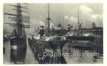 shi100381 - Hamburg, Hafen Real Photo - Sail Boat Postcard Post Card