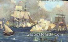 shi100400 - USF Consitution In Harbor Of Tripoli Sail Boat Postcard Post Card