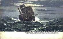 shi100402 - The Mayflower Sail Boat Postcard Post Card